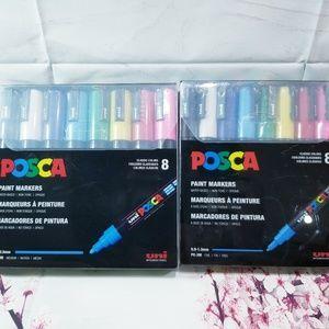 Uni Posca Paint Marker Fine & Medium Set New